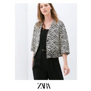 Zara | Printed structured jacket